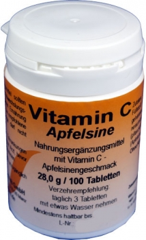 Apfelsine - Vitamin C-Tabletten